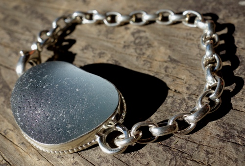 Rare davenport sea glass bracelet