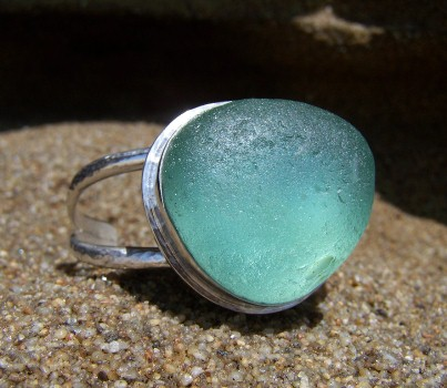 SCSG sea glass cuff bracelt