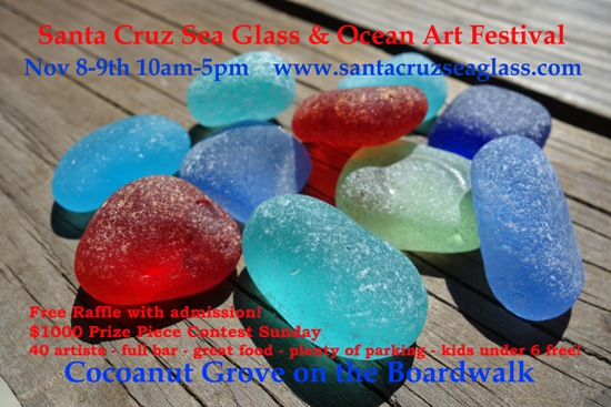 Santa Cruz Sea Glass festival, Santa Cruz Seaglass Festival, Beach Glass in California